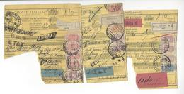 3 DOCUMENTS ITALIE PERUGIA FIRENZE MILANO 1926 POUR FRANCE CHERBOURG /FREE SHIPPING R - Machine Stamps (ATM)