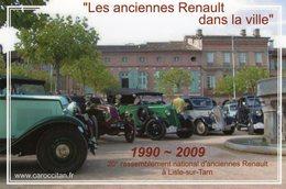 'Les Anciennes Renault Dans La Ville'  -  20eme Rassemblement National Renault  -  Carte Postale - Voitures De Tourisme