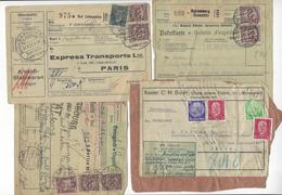 4 DOCUMENTS ALLEMAGNE KOLN SPEMBERG BERLIN BAD LIEBENSTEIN POUR FRANCE /FREE SHIPPING R - Germany