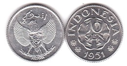 Indonesia - 10 Sen 1951 UNC Lemberg-Zp - Indonésie