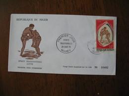 FDC  Enveloppe  Niger Niamey   1975  Lutte  à Voir - Niger (1960-...)