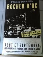 Affiche - Penne Du Tarn - Rocher D'OC Spectacle Son Et Lumière - Posters