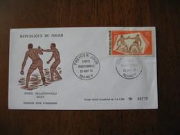 FDC  Enveloppe  Niger Niamey   1975  Boxe  à Voir - Niger (1960-...)