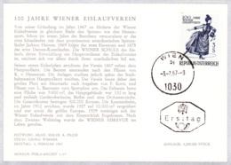 1967 100 Jahre Wiener Eislaufverein FDC Karte (ANK 1262, Mi 1231) - FDC