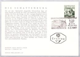 1967 Bauten - Schattenburg In Feldkirch FDC Karte (ANK 1261, Mi 1232) - FDC