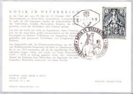 1967  Gotik In Österreich FDC Karte (ANK 1268, Mi 1238 - FDC