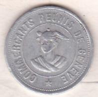 Suisse. Jeton D'Escompte. Commercants Réunis De Genève 5 Rappen , En Aluminium - Monétaires / De Nécessité