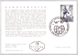 1967  Sport: Hammerwerfer FDC Karte (ANK 1272, Mi 1242) - FDC