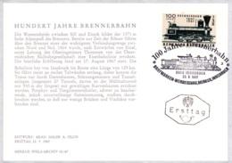 1967  100 Jahre Brennerbahn FDC Karte (ANK 1275, Mi 1245) - FDC