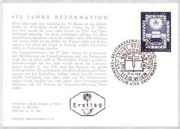 1967  450 Jahre Reformationsbeginn FDC Karte (ANK 1279, Mi 1249) - FDC