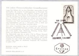 1967  150 Jahre Grundkataster FDC Karte (ANK 1280, Mi 1250) - FDC