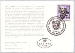 1967  Akad. F. Musik U. Darstell. Kunst FDC Karte  (ANK 1283, Mi 1253) - FDC