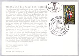 1967  Markgraf Leopold Der Heilige FDC Karte (ANK 1282, Mi 1252) - FDC