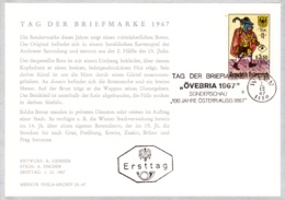 1967  TdB 1967: Briefbote 15.Jh. FDC Karte (ANK 1285, Mi 1255) - FDC
