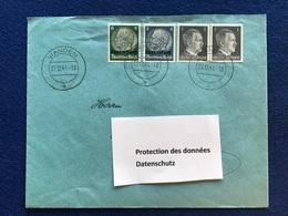 Luxembourg - Deutsches Reich - Enveloppe - Vianden - 27.12.41 - 1940-1944 Occupation Allemande