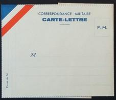 Carte-lettre De Franchise Militaire à Plier . Bandeau Tricolore . - Postmark Collection (Covers)
