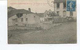 CPA -COLROY LA GRANDE  -Le Centre Du Village  - Circulée - Etat - Colroy La Grande