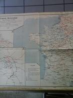 Carte Spéciale Des Chemins De Fer De 1900 Avec Tableaux Des Distances  De La France - Cartes