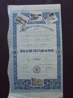 MALAISIE, KEPONG - STE FRANCAISE DES MINES D'ETAIN - ACTION DE 100 FRS - BORDEAUX 1912 - BELLE ILLUSTRATION - Shareholdings