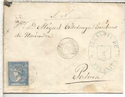 FELANITX BALEARES CC ISABEL II A PALMA 1866 MARCA ALCALDIA - 1868-70 Gobierno Provisional