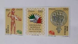 ITALIA 1984 ARTE ETRUSCA (DOPPIA STAMPA NERO) - 6. 1946-.. República