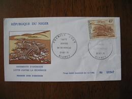 FDC  Enveloppe  Niger Niamey   1975 Lutte Contre La Sécheresse     à Voir  N° 547 - Niger (1960-...)