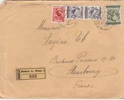 Lettre Reco Baden B. Wien 1 Pour La France - Storia Postale