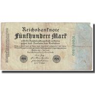 Billet, Allemagne, 500 Mark, 1922, 1922-07-07, KM:74a, B - [ 3] 1918-1933 : República De Weimar