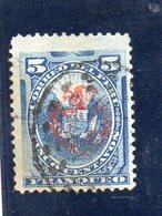 PEROU 1882 O DEFECTEUX(LITTLE CUT) - Perù