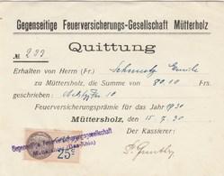 Quittance Muttershotz - Revenue Stamps