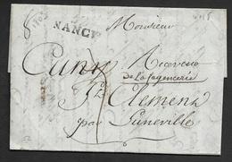 1803 - NANCY 25mm X 10mm A ST CLEMENT - Lettre Du BANQUE DE FRANCE - MARIN L'AINÉ - AN XI - 1801-1848: Precursors XIX