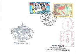 Lettre Avec Chili N°630 Peinture Rupestre Et 743 Ameripex'86 - Joides Resolution - Forschungsprogramme