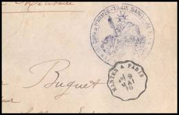 52574 Train Sanitaire 1916 Convoyeur Nantes Paris Train Sanitaire Hopital Sante Guerre Fragment De Lettre 1914/1918 War - Postmark Collection (Covers)