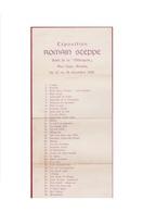Exposition Romain Steppe 1908 Salle De Metropole Rue Leys 1908 Tentoonstelling Flyer - Programmes