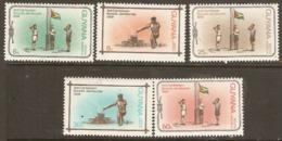 Guyana  1969  SG  504-8  Scout Jamboree   Unmounted Mint - Guyana (1966-...)