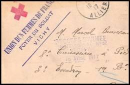 52617 Allier Vichy 1917 Hopital Temporaire 52 Foyer Du Soldat Sante Guerre Fragment De Lettre 1914/1918 War - Postmark Collection (Covers)