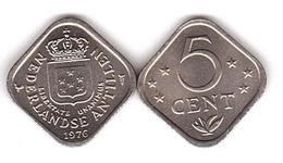 Netherlands Antilles - 5 Cent 1976 UNC / AUNC Lemberg-Zp - Antille Olandesi