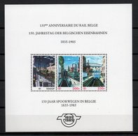 BELGIE 1985 BLOCK 4 CF CHEMIIN DE FER POSTFRIS NEUF ORIGINE MNH ** - Chemins De Fer