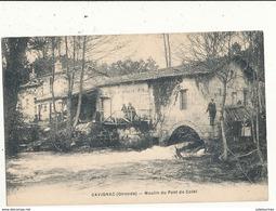 33 CAVIGNAC MOULIN DU PONT DE COTET CPA BON ETAT - Moulins à Eau