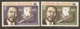 Britisk Virgin Islands  1986   SG 226-7  Dr Martin Luther King   Unmounted Mint - Britse Maagdeneilanden