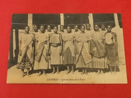 CPA AFRIQUE - ZAMBEZE - Les Suivantes De La Reine - Sambia
