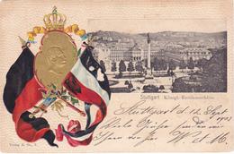 727/ Stuttgart, Königl. Residenzschloss, Litho, 1903 - Stuttgart