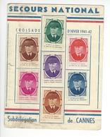 CANNES SECOURS NATIONAL PETAIN 7 VIGNETTES VIGNETTE ERINNOPHILIE Cinderella Stamp DEFAUT /FREE SHIPPING R - Vignettes Militaires