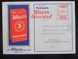 Postkarte Knorr GmbH - WHW 1939 - Ortsgruppe Altmünster - Text! - Briefe U. Dokumente
