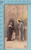 AV/ 503 - Marie Apportant Une Fillette Pour La Premiere Communion  - Holy Card, Image Pieuse, Santini - Devotion Images
