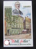 Postkarte Propaganda Hitler - Geburtshaus Braunau Am Inn - 1935 - Text! - Deutschland