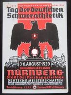 Postkarte Propaganda Tag Der Deutschen Schwerathletik Nürnberg 1939 - Text Von Teilnehmer - Allemagne