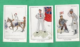 Miltaria Guerre 1914 / 1918 Caricature Lot De 12 Cartes Format 9cm X 14cm Voir 5 Scans - Guerre 1914-18