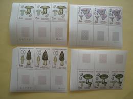 1987 France  Yv 2488/91 X 3 ** MNH - Champignons Mushrooms  Cote 21.60 € Michel 2622/5 Scott 2050/3 SG 2786/9 - France