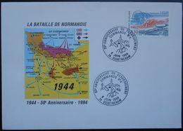 O75 Cachet Temporaire Ouistreham 14 Calvados 50 Anniversaire Du Débarquement Commando 4 6 Juin 1994 - Marcophilie (Lettres)